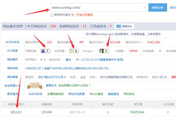 电商网站苏宁易购seo优化经典案例