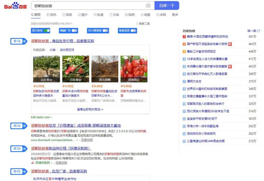 邯郸果树苗(www.shumiao8.com)建站及seo优化